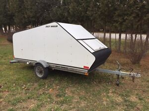 2004 EASY HAULER SINGLE ENCLOSED SLED TRAILER