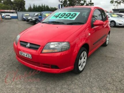 2007 Holden Barina TK MY07 Red 5 Speed Manual Hatchback Lansvale Liverpool Area Preview
