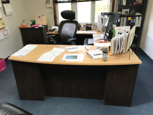 Executive Office Suite - Desk, 2 -File Cabinets, Credenza & More