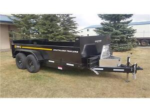 7x14ft Dump Trailer by Southland Trailers-14,000# GVWR