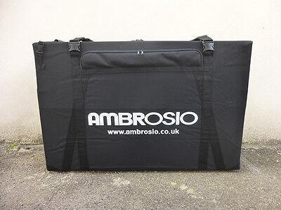 AMBROSIO BIKE BOX HARD CASE CYCLE TRANSPORT QUALITY AIRPORT CYCLE TRAVEL BAG
