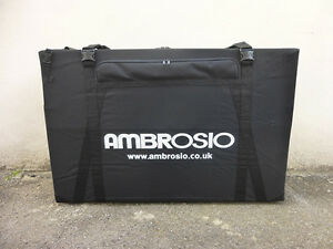 ambrosio bike box hard case cycle transport quality airport cycle travel bag ebay. Black Bedroom Furniture Sets. Home Design Ideas