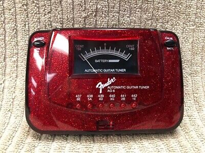 FENDER AUTOMATIC GUITAR TUNER MODEL: AG-6 SPARKLE RED GOOD CONDITION