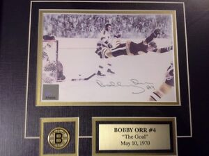 """Bobby Orr """"The Goal"""" Signed Picture London Ontario image 2"""