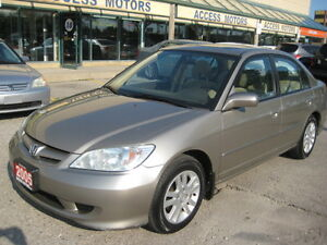"2005 Honda Civic, LXG, Sunroof, Auto, PW, Like New ""CERTIFIED"""