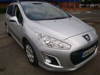 63 PEUGEOT 308 E-HDI SW ACCESS 5 DOOR DIESEL ESTATE £20 ROAD TAX