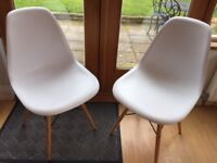 Eight Eames Style Dining Chairs