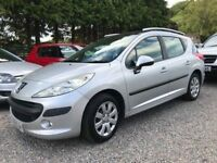 Peugeot 207 SW 1.4 S, 5 Door Estate in Silver, Excellent Value Car being Sold with a 12 Months MOT