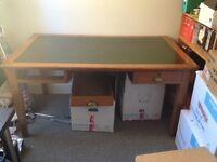 Antique/vintage large oak desk