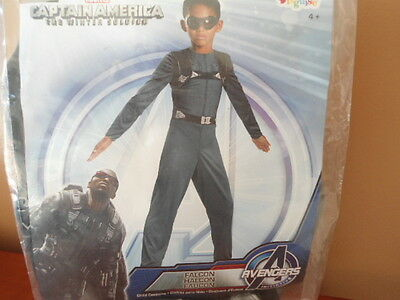 Captain America The Winter Soldier Avengers Falcon Costume Boys Small 6 - New Falcon Kostüm