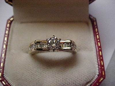 DIAMOND ENGAGEMENT RING 1 CARAT DIAMONDS 14 K YELLOW GOLD SIZE 6.5 for sale  Shipping to Canada