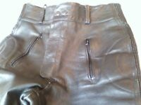 "Buffalo leather motorbike trousers 34"" waist"