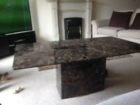 Alfrank Brown Marble Coffee Table .Excellent condition