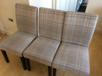 Dining Chairs - 3 Piece / Set - Used but in a good Condition - Bought it from Next
