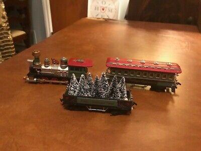 3 pc Lemax Village Express Electric Christmas Village Train Set no track.