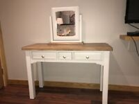 Dressing table with matching mirror