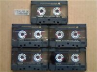 JL £18.49 & FREE P&P, 5x GUARANTEED TDK AR 90 PREMIUM CASSETTE TAPES 1988-1989 W/ CARDS CASES LABELS
