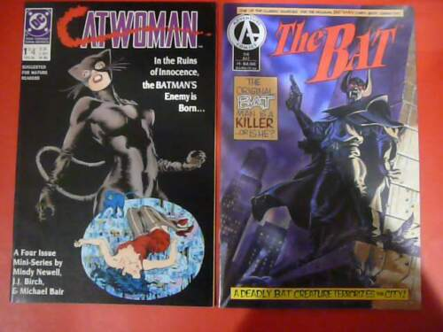 CATWOMAN #1 (DC 1989), and THE BAT #1 (Adventure 1992)