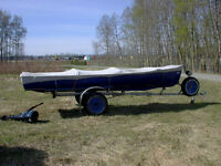 1948 Peterborough Falcon 185 double wide canoe