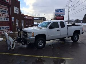 2008 CHEV SILVERADO 2500 LT HD 4X4 WITH BLIZZARD PLOW