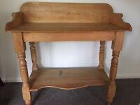 Antique pine wash stand