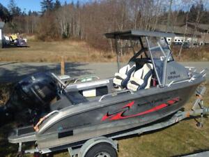 17' Aluminum boat for sale