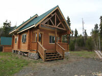 Adorable & Very Well Built Log Cabin On 22+WATERFRONT Acres!