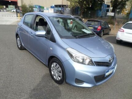 2011 Toyota Yaris NCP131R YRS Blue 4 Speed Automatic Hatchback
