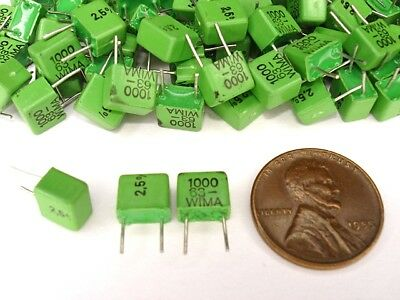25pcs Wima 1000pf 63v 2.5 Fkp2 Np 5mm Pitch Audio Capacitors New
