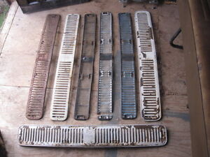 Volkswagen bus front grill assembly w/ screens.