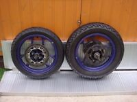Near Brand New Kawasaki Ninja 250cc Wheels And Tyres For Only £45