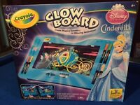 Crayola Disney Princess Cinderella Glow Board BRAND NEW