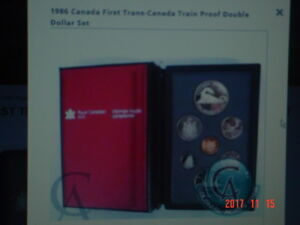 1986 CANADA PROOF DOUBLE DOLLAR 7 COIN SET.