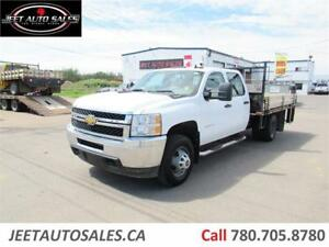 2013 Chevrolet Silverado 3500HD , 10 ft flat deck with hyd. lift
