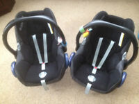 Maxi Cosy Baby Car seat/carrier and Click and Go Isofix seat locator