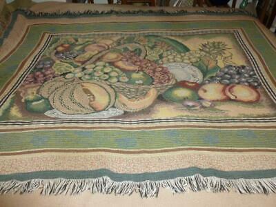 Fruit Basket Still Life Art Print Tapestry Throw Blanket 48