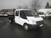 Ford Transit T350 LWB Tipper D/Cab Chassis Tdci 100Ps [Drw] Euro 5 DIESEL (2014)
