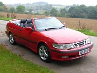 Saab 9-3 2.0t 2002MY CONVERTIBLE SE NEW MOT