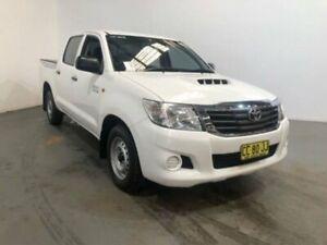 2014 Toyota Hilux KUN16R MY14 SR White 5 Speed Manual Dual Cab Pick-up Kooringal Wagga Wagga City Preview