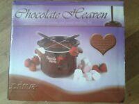 Boxed prima chocolate fondue/sweet making set