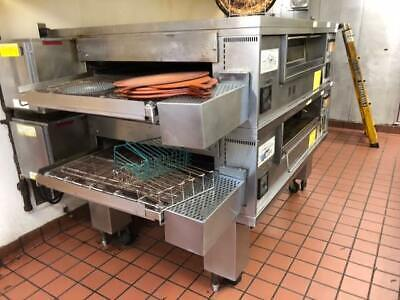 Middleby Marshall Ps570 Dbl.stack Nat.gas Pizza Conveyor Oven Just Pulled