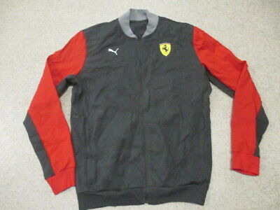 Puma Ferrari grey zipped tracksuit jumper top adult size