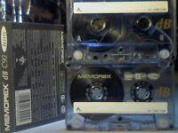 MEMOREX DB 90 (1993-1994) CASSETTE TAPES. 2 FOR £1.50.
