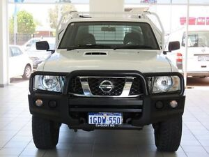 2013 Nissan Patrol MY11 Upgrade ST (4x4) White 5 Speed Manual Cab Chassis Morley Bayswater Area Preview