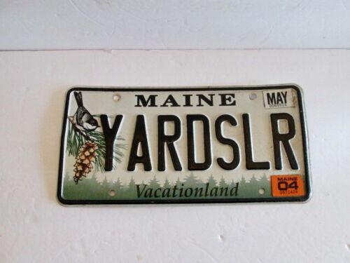 Vtg Maine Vanity License Plate YARDSALR    Defunct  2004 Herbal Chickadee