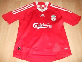 Boys Liverpool FC Adidas Football Shirt Top Size 30-32 Gerrard