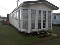 Caravan for hire in Berwick holiday park