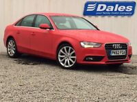 Audi A4 Technik 2.0 TDI 4dr Saloon (red) 2012