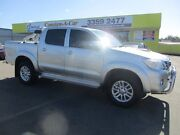 2013 Toyota Hilux KUN26R MY12 SR5 Double Cab Silver 5 Speed Manual Utility Kedron Brisbane North East Preview