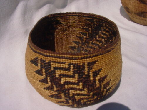 Antique Pit River Basket